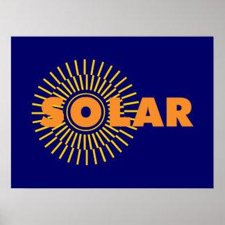 Energía solar Sun Poster