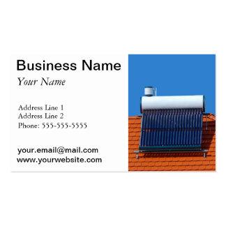 Energía solar plantilla de tarjeta de visita