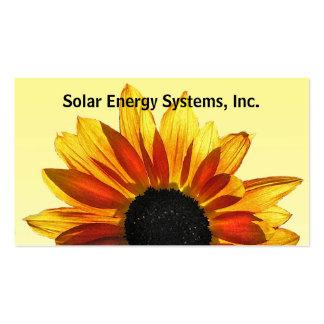 Energía solar tarjetas de visita