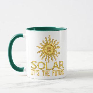 Energía solar taza