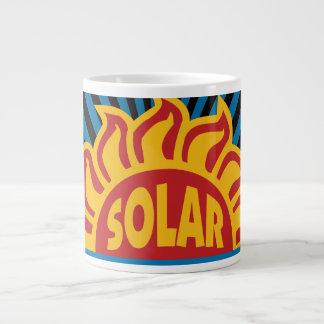 Energía solar taza grande