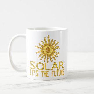 Energía solar taza de café
