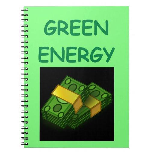 energía verde cuaderno