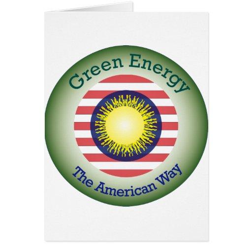 Energía verde de T45a la manera americana Tarjeta De Felicitación