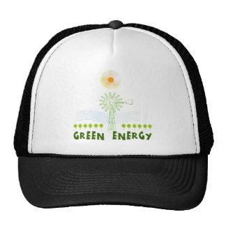 Energía verde gorras de camionero