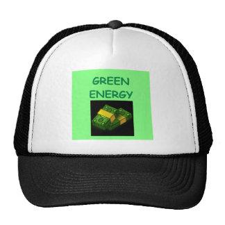 energía verde gorro