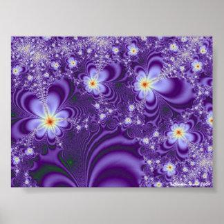 Energía violeta póster