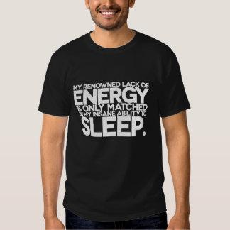 Energía y sueño - palabras perezosas a vivir cerca poleras
