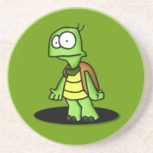 Enérgico el práctico de costade la tortuga posavasos personalizados