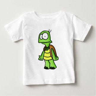 Enérgico la camisetadel niño de la tortuga playera