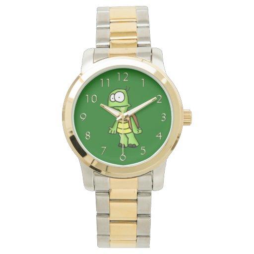 Enérgico la tortuga reloj de mano