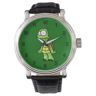 Enérgico la tortuga relojes de mano