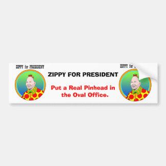 ¡Enérgico para el presidente! Pegatina Para Auto