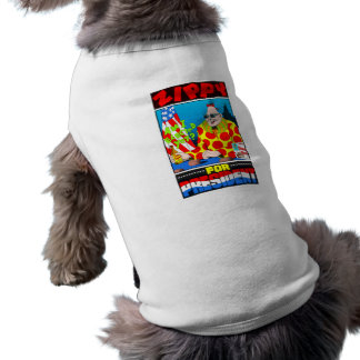 Enérgico para la camisa del perrito del presidente playera sin mangas para perro