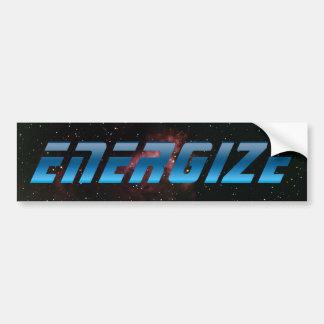Energize Car Bumper Sticker