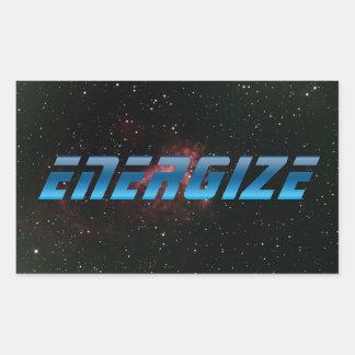 Energize Rectangular Sticker
