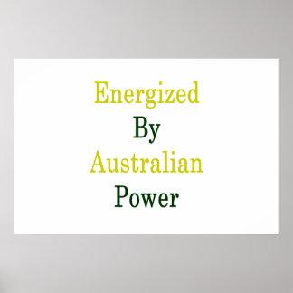 Energized By Australian Power Poster