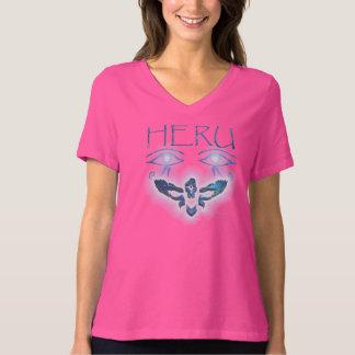 Energized Heru Ladies Plus Size V-neck Tee