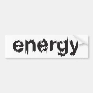 Energy 4 bumper sticker