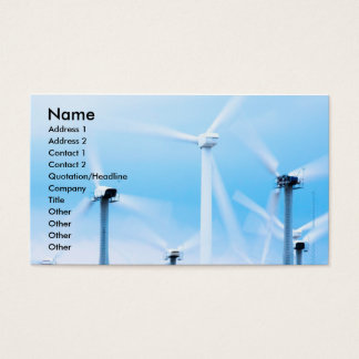 Energy and Environment Business Cards