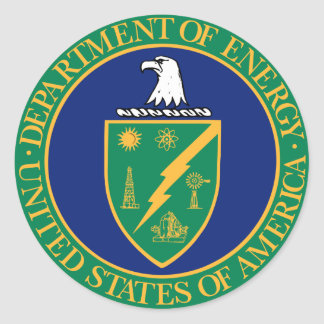 Energy Department Seal Classic Round Sticker
