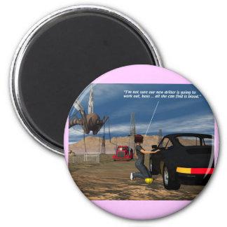 Energy - Driller - 2 Inch Round Magnet