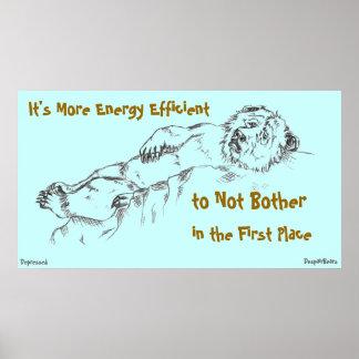 Energy Efficiency - Despair Bear Poster