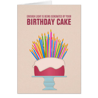 Energy Efficient Birthday Cake Birthday Card