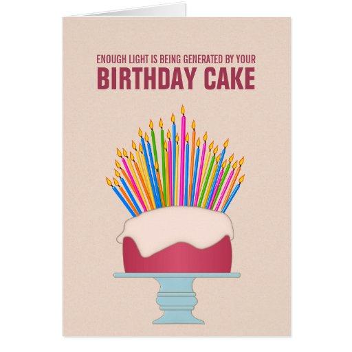 Energy Efficient Birthday Cake Birthday Card  Zazzle