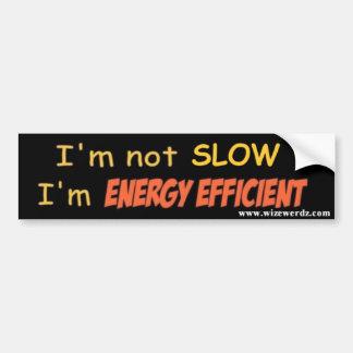 Energy Efficient bumper sticker