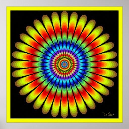 Energy Emitting Flower Poster
