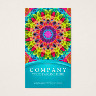 Energy Flower Mandala - yellow/orange Business Card