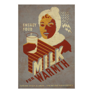 Energy Food Milk For Warmth Poster