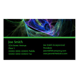 Energy Fractal Double-Sided Standard Business Cards (Pack Of 100)
