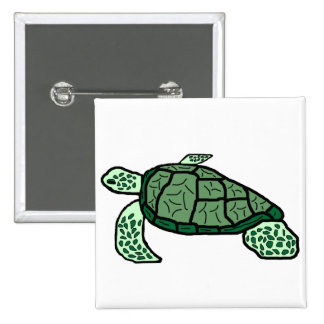 Energy  green sea turtle button