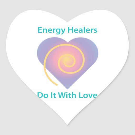 Energy Healers Do It With Love Sticker