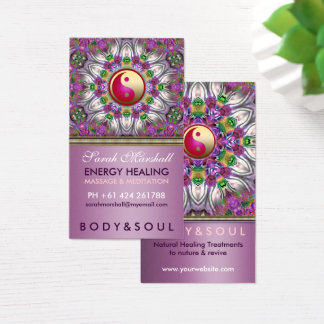 Energy Healing Holistic Pearl Star Business Card