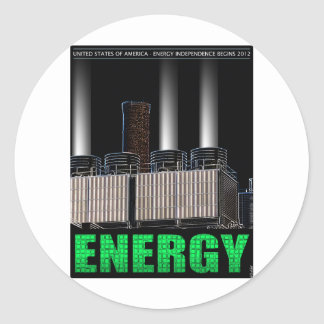 Energy Independence Classic Round Sticker