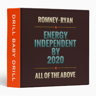 Energy Independent By 2020 3 Ring Binder