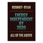 Energy Independent By 2020 Cards