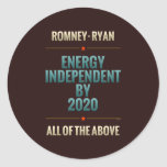 Energy Independent By 2020 Round Stickers