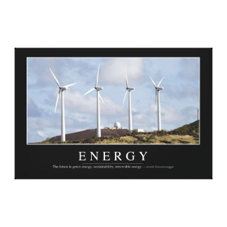 Energy: Inspirational Quote Canvas Print