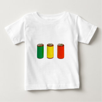 energy management concept - green, red and yellow baby T-Shirt