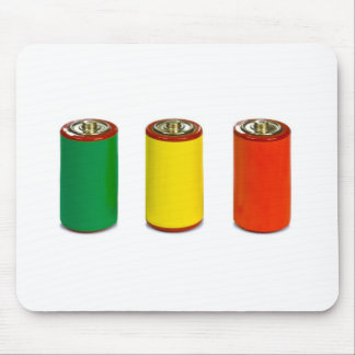 energy management concept - green, red and yellow mouse pad