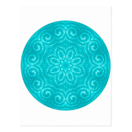Energy Mandala - Aqua Postcard