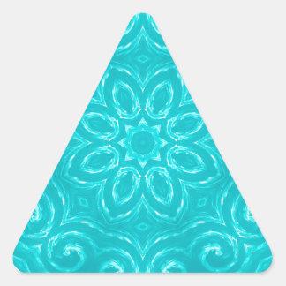 Energy Mandala - Aqua Triangle Sticker