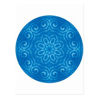 Energy Mandala - Blue Postcard