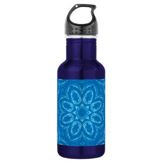 Energy Mandala - Blue Water Bottle