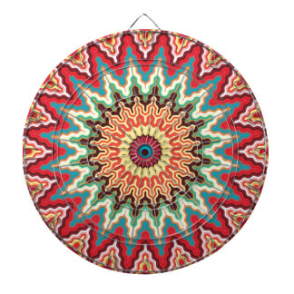 Energy Mandala Colorful Kaleidoscope Design Dartboard