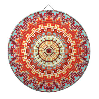 Energy Mandala Colorful Kaleidoscope Design Dartboards